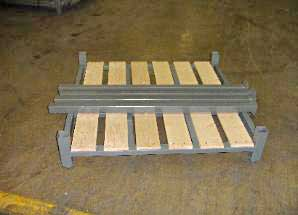 WPR portable stacking west point stacker unassembled wood pallet